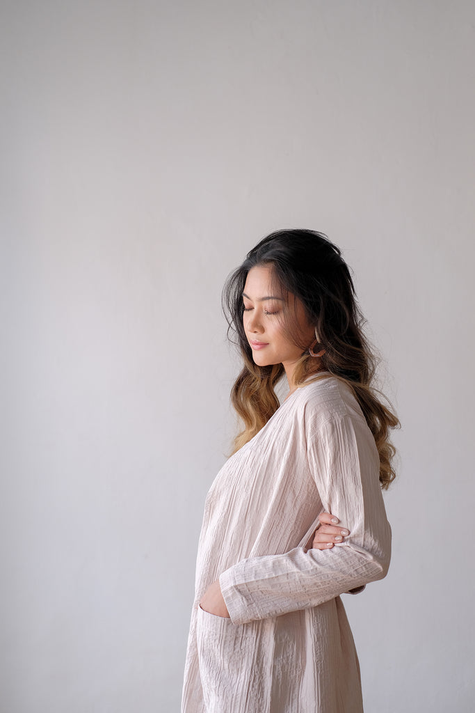 Kayla Long Cardigan | Sand