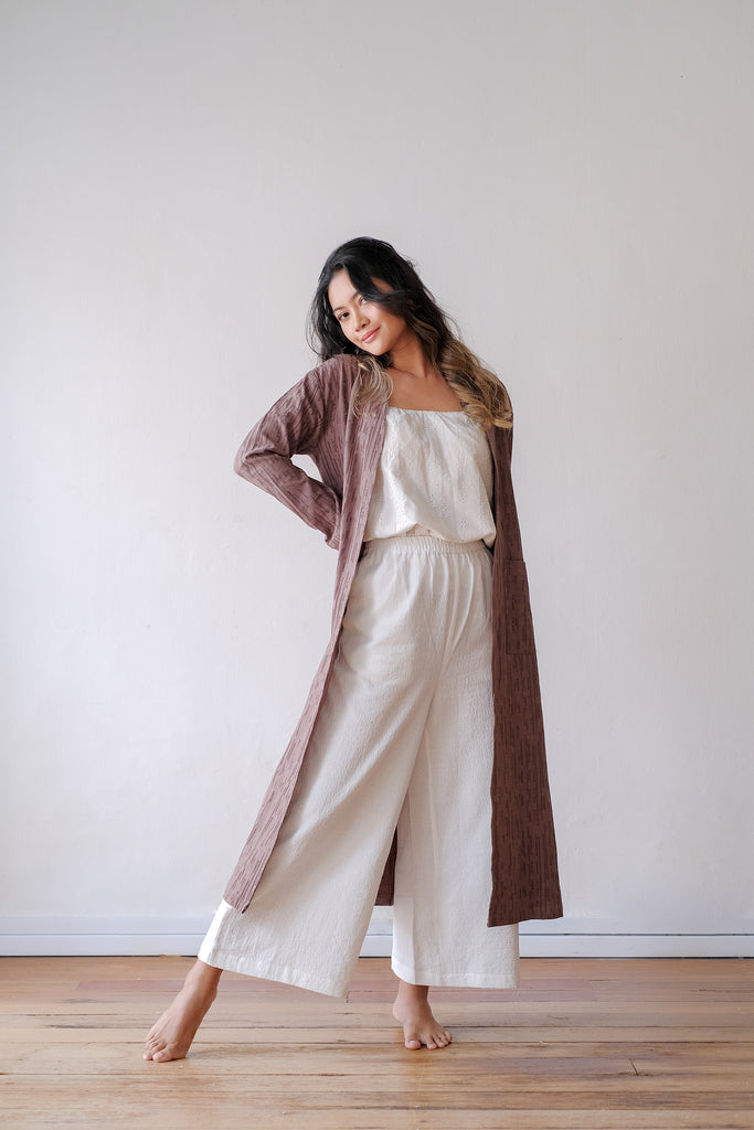 Kayla Long Cardigan | Wood