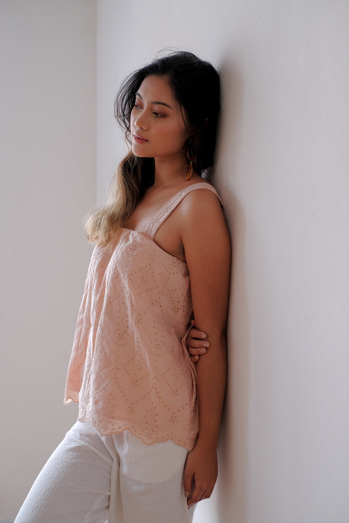 Eyelet Top | Dusty Pink