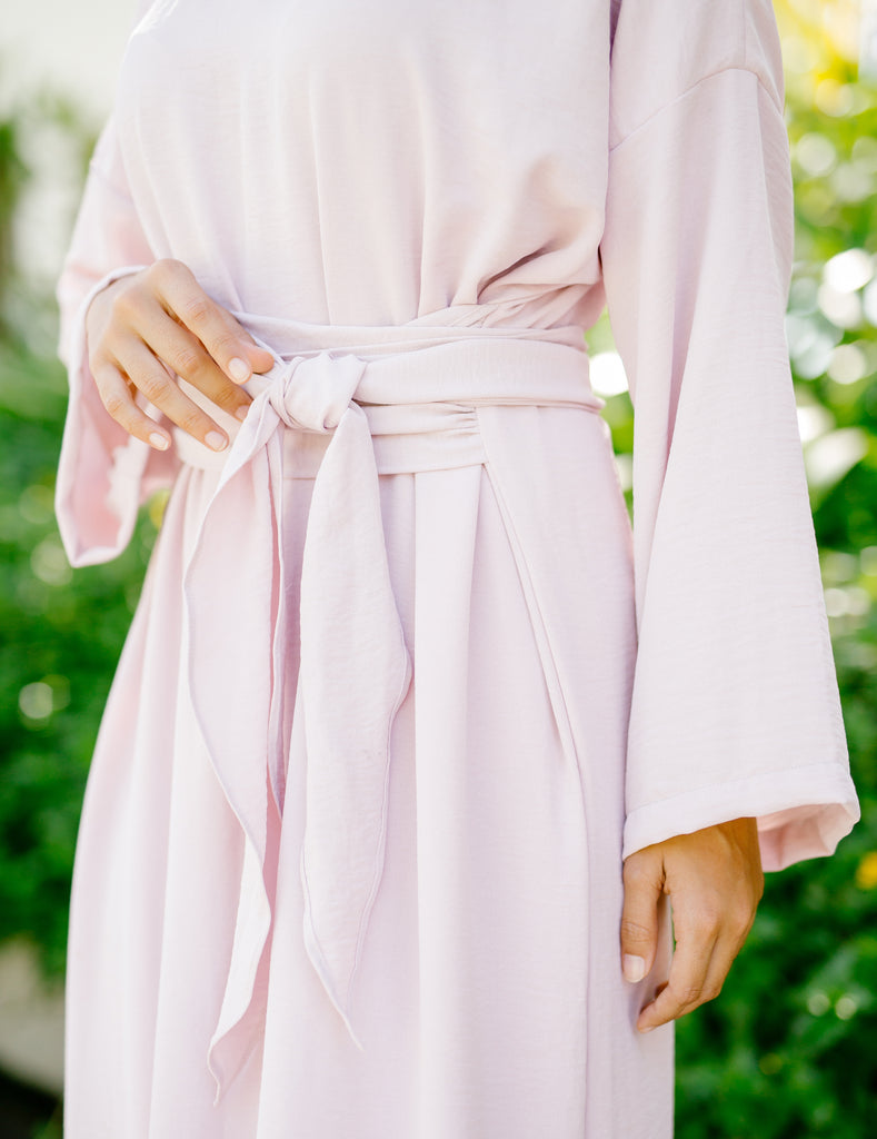 Hyères Wrap Dress | Rose Pink