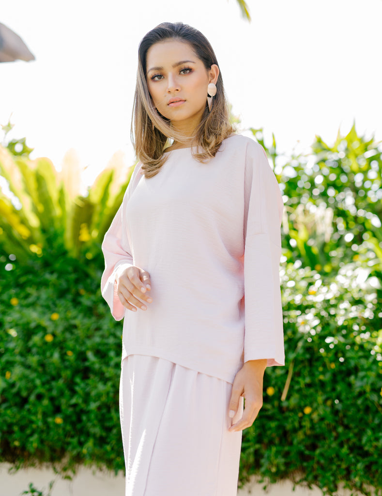 Marseille Mini Kurung | Rose Pink