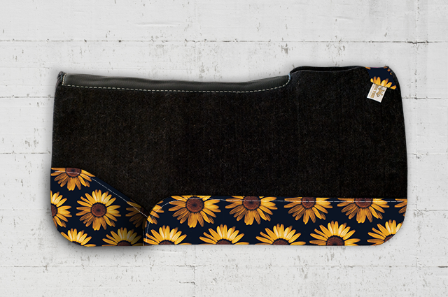 Ava Sunflower Saddle Pad