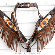 Morgan Sunflower Breastcollar / Tack Set  [ inlay design ]