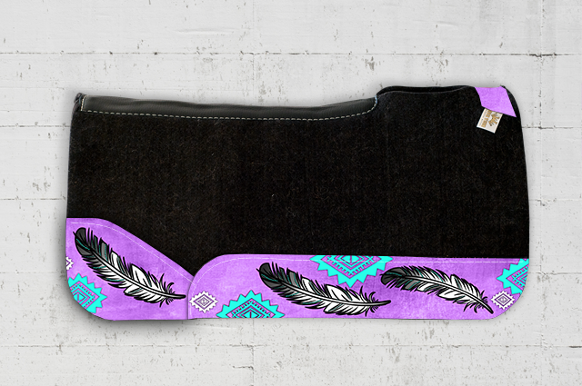Purple Feather Saddle Pad