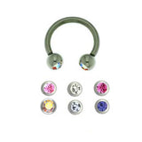 Circular Barbell Stainless Steel Jewelled 1.6mm BJ1077 - Rossan Distributors
