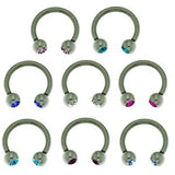 Circular Barbell Stainless Steel Jewelled Micro 1.2mm x 10mm BJ1221 - Rossan Distributors
