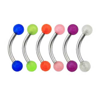 Banana Barbell Glow in the dark Micro 1.2mm x 8mm  BJ1267 - Rossan Distributors