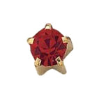 July Gold Clawset - Ruby FD2046C - Rossan Distributors
