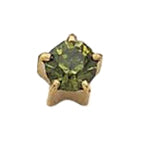 August Gold Clawset - Peridot FD2047C - Rossan Distributors