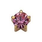 October Gold Clawset - Pink Zircon FD2049C - Rossan Distributors