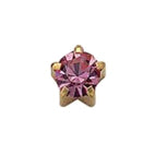October Gold Clawset Mini - Pink Zircon FD2049MC