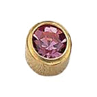 October Gold Bezel - Pink Zircon FD2049