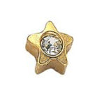 Star with Diamond Gold Stud - FD2071A
