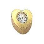 Heart with Diamond Gold Stud - FD2072A - Rossan Distributors