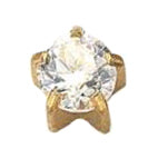 Cubic Zirconia Gold Clawset Large - FD2090L - Rossan Distributors