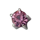 October Stainless Steel Clawset - Pink Zircon FD3049C - Rossan Distributors