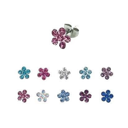 Crystal Flower Studs FE4016 - Rossan Distributors