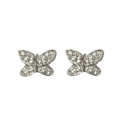Butterfly Cubic Zirconia Silver Stud FE4134 - Rossan Distributors