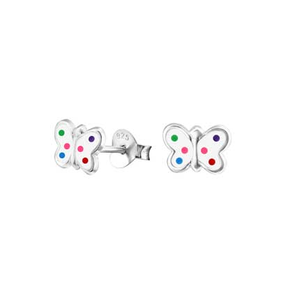 Butterfly Stud Earrings FE4452W - Rossan Distributors