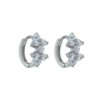 Cubic Zirconia 2 Flower Huggy FE4485 - Rossan Distributors