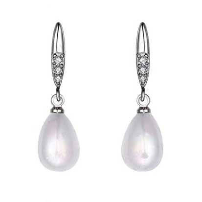 Shell Pearl Teardrop with Cubic Zirconia FE4625 - Rossan Distributors