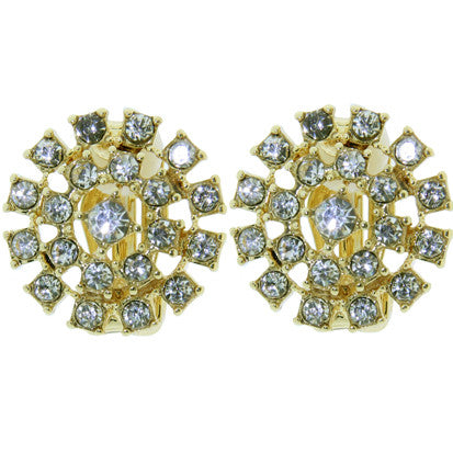Cubic Zirconia Flower Clip-on FE4814 - Rossan Distributors