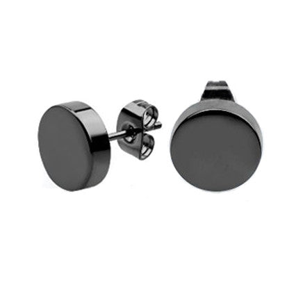 Black Disc Earrings FE4852 - Rossan Distributors
