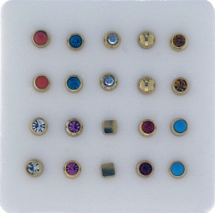 Assorted Studs Box of 10 Pairs - Rossan Distributors