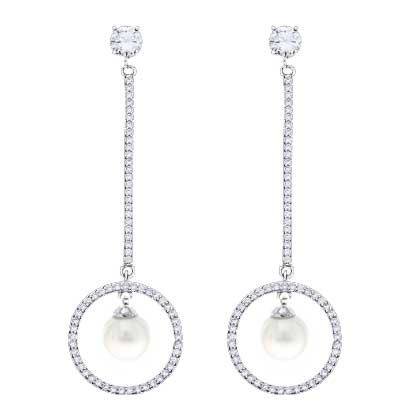 Drop with Cubic Zirconia and Shell Pearl PC2402 - Rossan Distributors