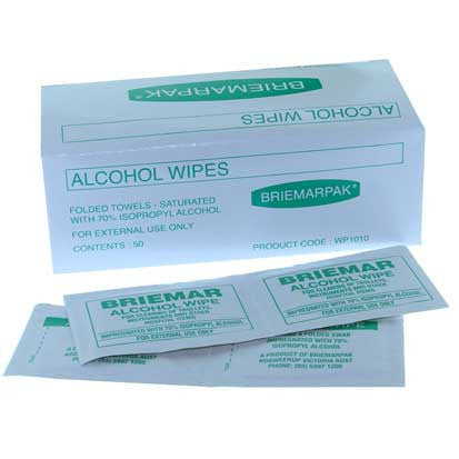 Alcohol Wipes 50/box RD40105 - Rossan Distributors