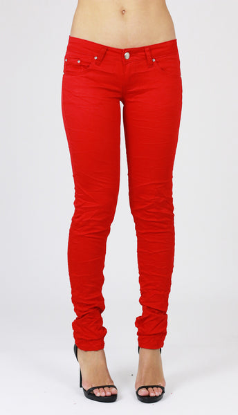 Susan Womens Ladies Red Skinny Jeans Jeggings - Dresskode  - 1