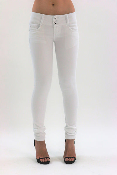 Anna Womens Ladies White Skinny Jeans Jeggings