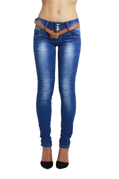 Annabelle Womens Ladies Blue Slim Fit Skinny Denim Jeans
