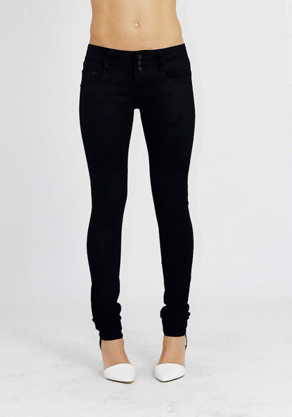 Elizabeth Womens Ladies Black Skinny Denim Jeans Trousers Pants