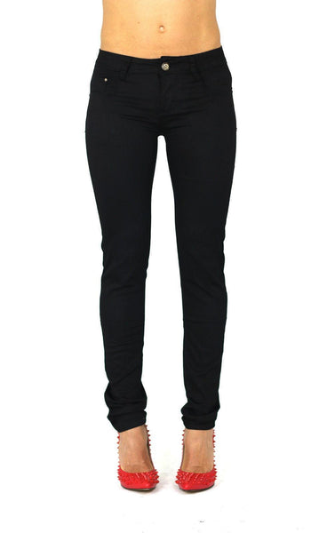 Erin Womens Ladies Black Stretchy Straight Skinny Jeans Trousers