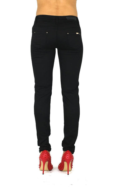 Erin Womens Ladies Black Stretchy Straight Skinny Jeans Trousers - Dresskode  - 3