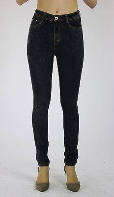 Lola Womens Ladies Black High Waisted Slim Fit Stretchy Denim Jeans