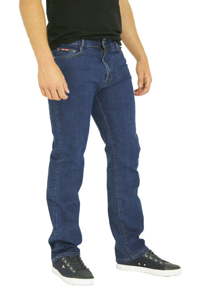 MENS STRAIGHT LEG CLASSIC DENIM JEANS ALL WAIST & SIZES - Dresskode  - 1