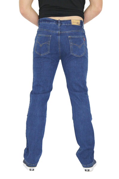 MENS STRAIGHT LEG CLASSIC DENIM JEANS ALL WAIST & SIZES - Dresskode  - 2