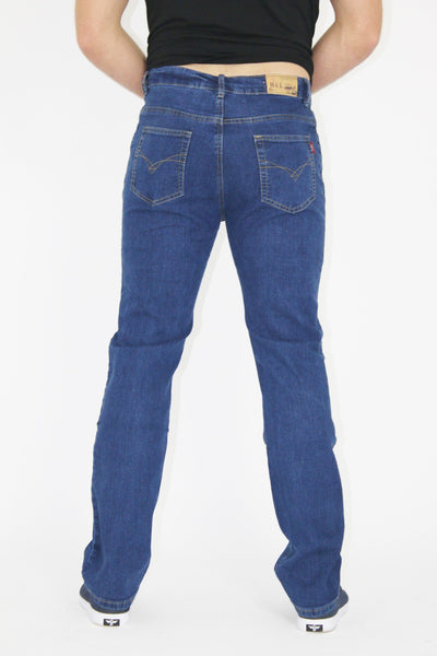 MENS STRAIGHT LEG CLASSIC DENIM JEANS ALL WAIST & SIZES - Dresskode  - 4