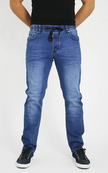 MENS LATEST  STYLISH BLUE LACED SLIM FIT JEANS