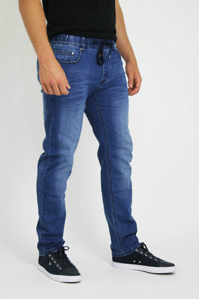 MENS LATEST  STYLISH BLUE LACED SLIM FIT JEANS - Dresskode  - 2