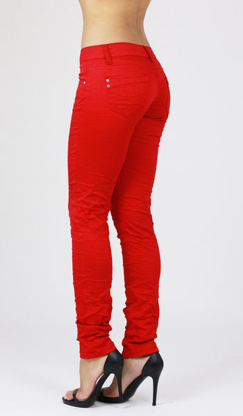 Susan Womens Ladies Red Skinny Jeans Jeggings - Dresskode  - 2