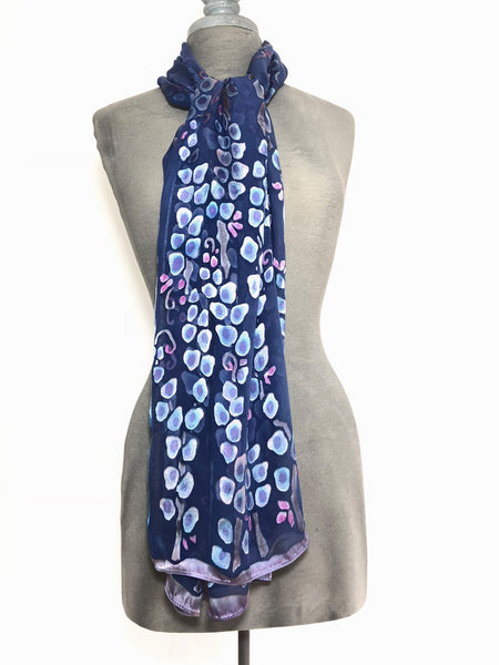Satin Scarf Shawl in Periwinkle