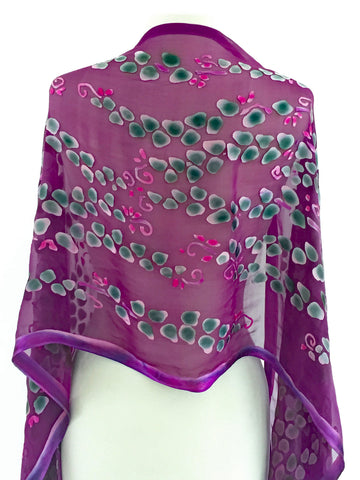 Satin Scarf/Shawl in Berry