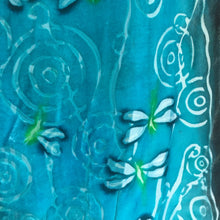 Load image into Gallery viewer, Velvet Scarf with Dragonflies in Turquoise