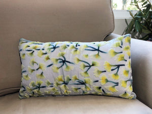 Gingko Leaf Pillow in Ivory