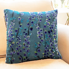 Load image into Gallery viewer, Willow Branches Square Pillow in Blue-sold out