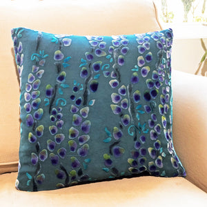 Willow Branches Square Pillow in Blue-sold out