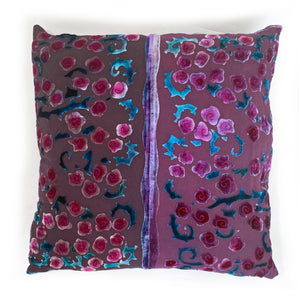 Red Roses Square Pillow Cover